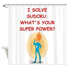 SUDOKU Shower Curtain