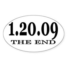Bush THE END Oval Decal