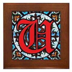 Stained Glass U Framed Tile