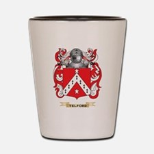 Telford Family Crest (Coat of Arms) Shot Glass