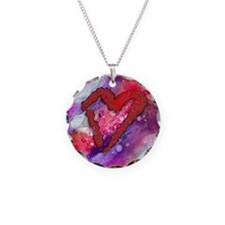 Red Heart with a Splash! Necklace