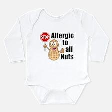 Peanut Allergy Long Sleeve Infant Bodysuit