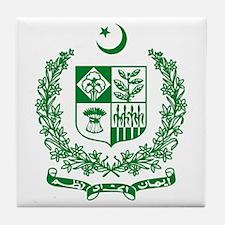 Pakistan Coat of Arms Tile Coaster