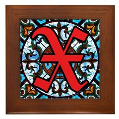 Stained Glass X Framed Tile