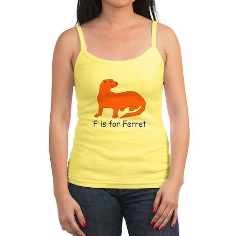 F is for Ferret Jr. Spaghetti Tank