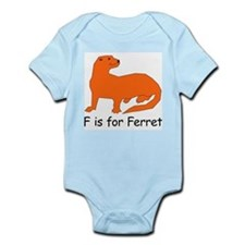 F is for Ferret Infant Bodysuit