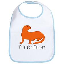 F is for Ferret Bib