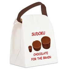 sudoku Canvas Lunch Bag