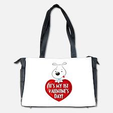 Puppy Dog 1st Valentine's Day Diaper Bag