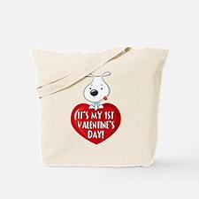 Puppy Dog 1st Valentine's Day Tote Bag