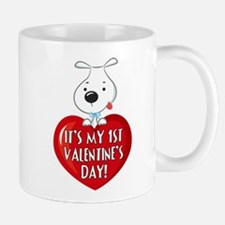 Puppy Dog 1st Valentine's Day Mug