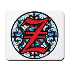 Stained Glass Z Mousepad