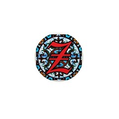 Stained Glass Z Mini Button (10 pack)