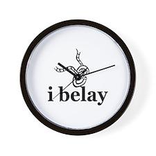 I Belay Wall Clock