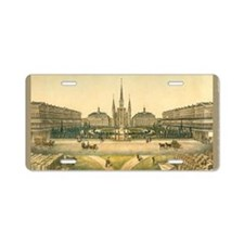 St. Lewis Cathedral Aluminum License Plate