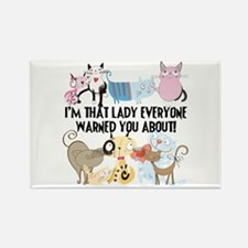 That Cat Lady Rectangle Magnet