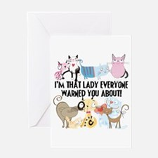 That Cat Lady Greeting Card