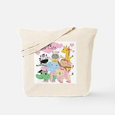Tutu Cute Zoo Animals Tote Bag