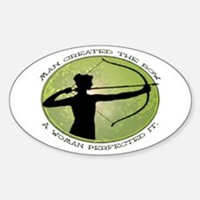 women's archery competition Oval Decal