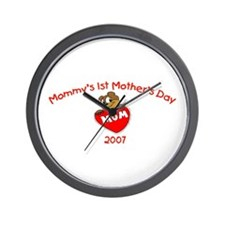 Mommy's 1st Mother's Day (Bear) Wall Clock
