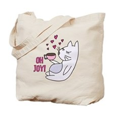 Cat With Coffee Tote Bag