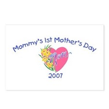 Mommy's 1st Mother's Day (Heart) Postcards (Packag