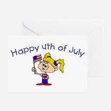 Happy 4th Of July (Girl) Greeting Cards (Package o