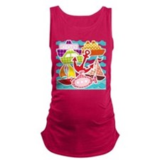 Patchwork Things in the Water Maternity Tank Top