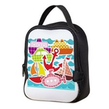 Patchwork Things in the Water Neoprene Lunch Bag