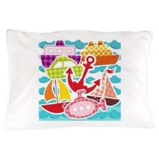 Patchwork Things in the Water Pillow Case