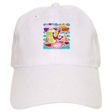 Patchwork Things in the Water Baseball Cap