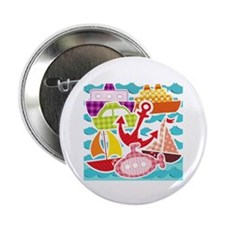"Patchwork Things in the Water 2.25"" Button (10 pac"