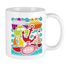 Patchwork Things in the Water Mug