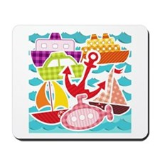 Patchwork Things in the Water Mousepad