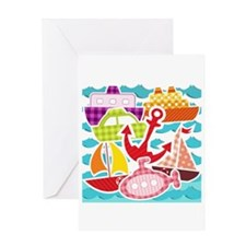 Patchwork Things in the Water Greeting Card