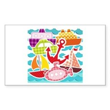 Patchwork Things in the Water Decal