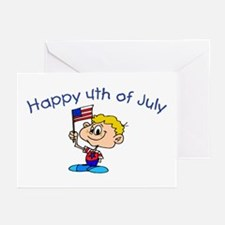 Happy 4th Of July (Boy) Greeting Cards (Package of