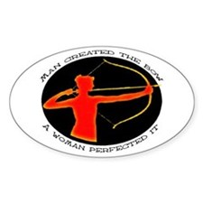 women bow hunters Oval Decal