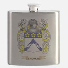 Thomas Family Crest (Coat of Arms) Flask