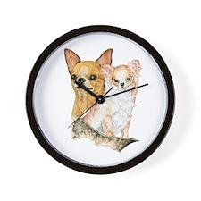Chihuahua Pair Wall Clock