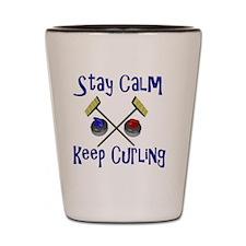 keep Curling Shot Glass