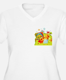 Rooster and Chicken on Farm T-Shirt