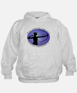 Man created the Bow, A women  Hoodie
