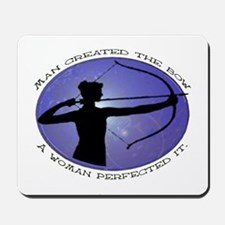 Man created the Bow, A women  Mousepad