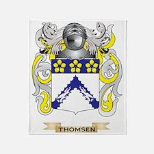 Thomsen Family Crest (Coat of Arms) Throw Blanket