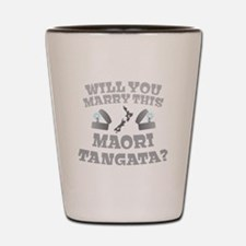 Will you Marry this MAORI TANGATA guy? Shot Glass