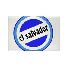 El Salvador Pride Rectangle Magnet