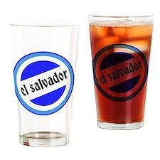 El Salvador Pride Drinking Glass