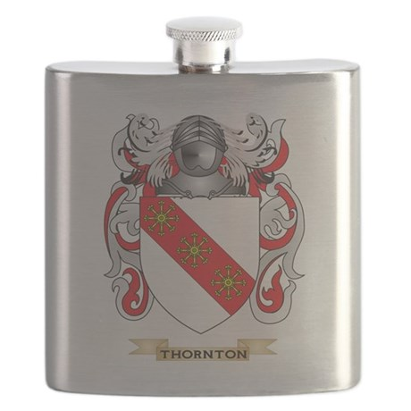 Thornton Family Crest (Coat of Arms) Flask