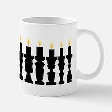 Candlestick and people illusion Mug